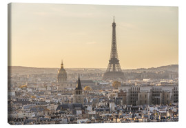 Canvas  Paris in the evening light - Matteo Colombo
