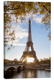 Canvas print  Jena bridge and Eiffel tower in autumn, Paris, France - Matteo Colombo