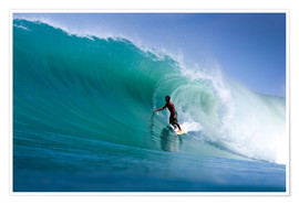 Premium poster  Surfing the dream wave - Paul Kennedy