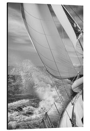 Aluminium print  Sailing black / white - Jan Schuler