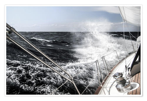Premium poster Sailing in a storm