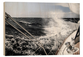 Wood  Sailing in a storm - Jan Schuler