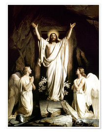 Premium poster  The resurrection - Carl Bloch