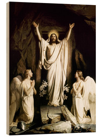 Wood print  The resurrection - Carl Bloch