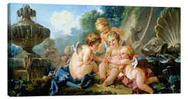 Canvas print  Angels in the Game - François Boucher