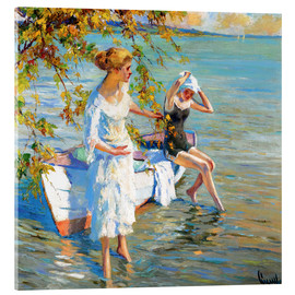Acrylic print  At the bathing place - Edward Cucuel