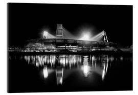 Acrylic print  Weserstadion, Bremen in black and white - Tanja Arnold Photography