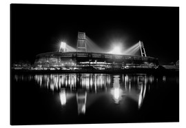 Alu-Dibond  Weserstadion, Bremen in black and white - Tanja Arnold Photography