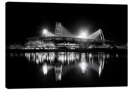 Canvas  Weserstadion black and white - Tanja Arnold Photography