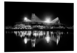 Forex  Weserstadion black and white - Tanja Arnold Photography