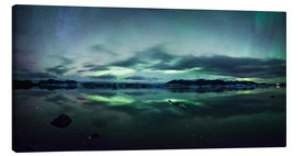 Canvas print  Northern Lights Panorama Jokulsarlon - Matteo Colombo