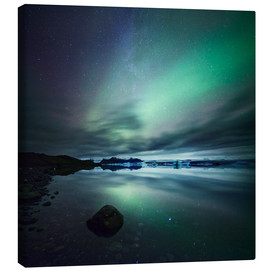 Canvas print  Northern Lights over Jokulsarlon - Matteo Colombo