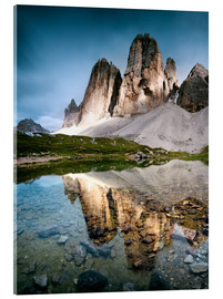 Acrylic print  Majestic Three Peaks (Tre Cime di Lavaredo) mountains in the Dolomites, Italy - Matteo Colombo