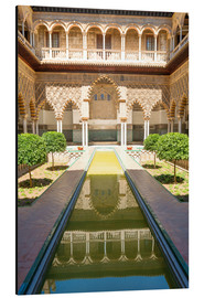 Alu-Dibond  Courtyard of the Maidens in the royal Alcazar of Seville, Spain - Matteo Colombo