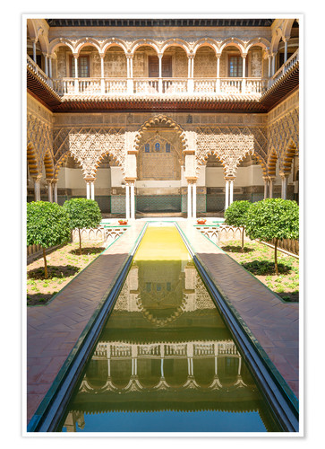 Premium poster Court of the virgins in the royal Alcazar