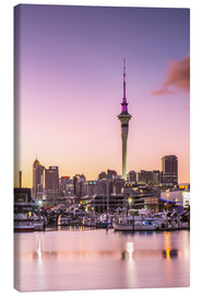 Canvas print  Skyline of Auckland city and harbour at sunrise, New Zealand - Matteo Colombo