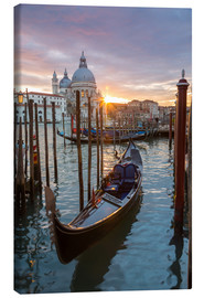 Canvas print  Gondola and Basilica, Venice - Matteo Colombo