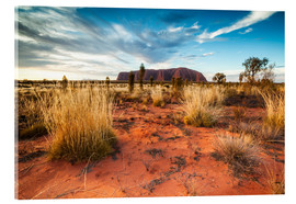 Acrylic glass  Red Desert at Ayers Rock - Matteo Colombo