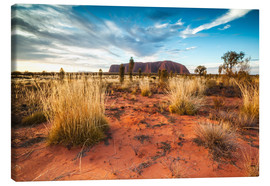 Canvas print  Red Desert at Ayers Rock - Matteo Colombo