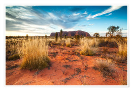 Premium poster  Red Desert at Ayers Rock - Matteo Colombo
