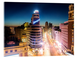 Acrylic glass  Madrid in the night - Matteo Colombo