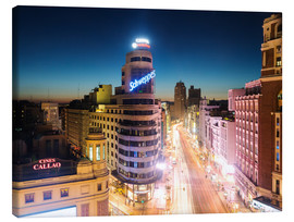 Canvas  Madrid in the night - Matteo Colombo