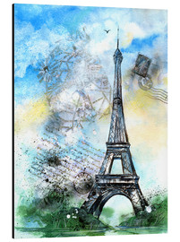 Aluminium print  Memory of Paris - Jitka Krause