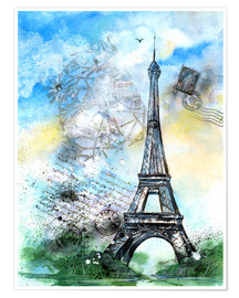 Premium poster  Memory of Paris - Jitka Krause
