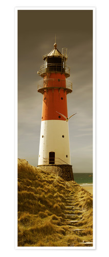 Premium poster Lighthouse in the evening light
