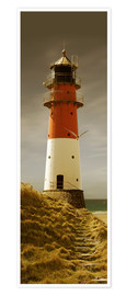 Premium poster  Lighthouse in the evening light - Monika Jüngling