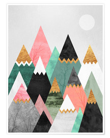 Poster  Pretty Mountains - Elisabeth Fredriksson