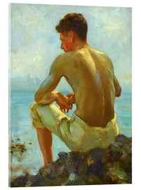 Acrylic glass  Rowing in the shade - Henry Scott Tuke