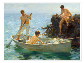 Henry Scott Tuke - The Bathing cove