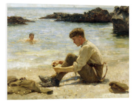 Foam board print  Lawrence as a Cadet at Newporth Beach - Henry Scott Tuke