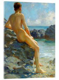 Acrylic print  The bather - Henry Scott Tuke