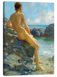 Canvas print  The bather - Henry Scott Tuke