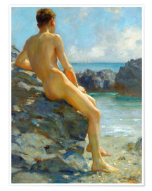 Premium poster The bather