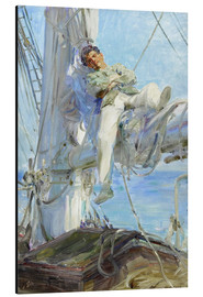Aluminium print  Sleeping Sailor - Henry Scott Tuke