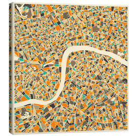 Canvas  London Map - Jazzberry Blue