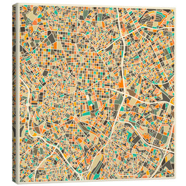 Canvas  Madrid Map - Jazzberry Blue