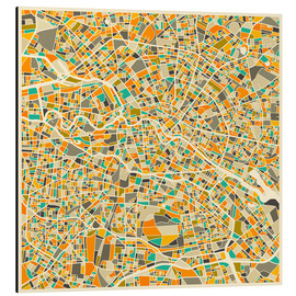 Aluminium print  Map of Berlin - Jazzberry Blue