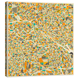 Canvas print  Map of Berlin - Jazzberry Blue