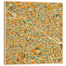 Wood  Berlin Map - Jazzberry Blue
