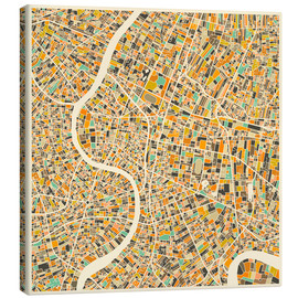 Canvas print  Bangkok Map - Jazzberry Blue