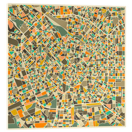 Acrylic print  Milan Map - Jazzberry Blue