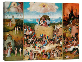 Canvas print  The Hay Wain - Hieronymus Bosch