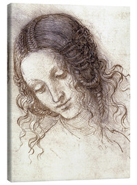 Canvas print  Head of Leda - Leonardo da Vinci
