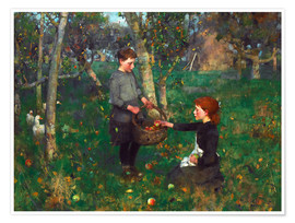 Premium poster  In the Orchard - Sir James Guthrie