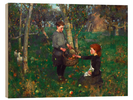 Wood print  In the Orchard - Sir James Guthrie