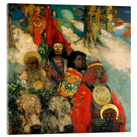 Acrylic print  Druids bringing in the Mistletoe - Edward Atkinson Hornel